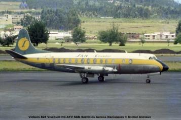 img626 Vickers 828 Viscount HC-ATV SAN Servicios Aereos Nacionales © Michel Anciaux