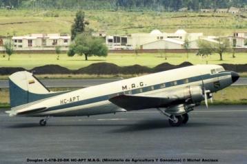 img627 Douglas C-47B-20-DK HC-APT M.A.G. (Ministerio de Agricultura Y Ganadona) © Michel Anciaux
