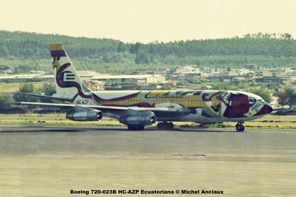 img634 Boeing 720-023B HC-AZP Ecuatoriana © Michel Anciaux