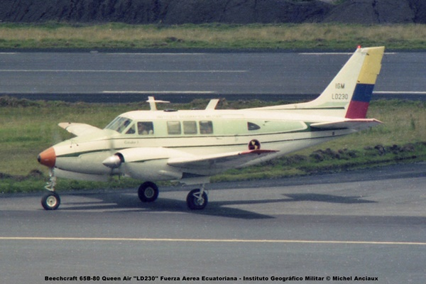 img639 Beechcraft 65B-80 Queen Air ''LD230'' Fuerza Aerea Ecuatoriana-Instituto Geográfico Militar © Michel Anciaux