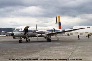 img641 Hawker Siddeley 748 Sr2A ''FAE682'' HC-AUD Fuerza Aerea Ecuatoriana © Michel Anciaux