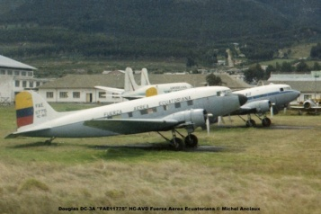 img646 Douglas DC-3A ''FAE11775'' HC-AVD Fuerza Aerea Ecuatoriana © Michel Anciaux