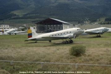 img648 Douglas C-47-DL ''FAE4341'' HC-AUZ Fuerza Aerea Ecuatoriana © Michel Anciaux