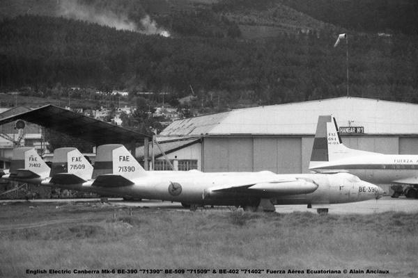 img658 English Electric Canberra Mk-6 BE-390 ''71390'' BE-509 ''71509'' & BE-402 ''71402'' Fuerza Aérea Ecuatoriana © Alain Anciaux