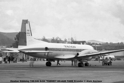 img660 Hawker Siddeley 748-246 Sr2A ''FAE683'' HC-AUE TAME Ecuador © Alain Anciaux