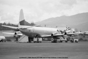 img665 Lockheed L-188A Electra N7138C lsd to Copa Airlines © Alain Anciaux