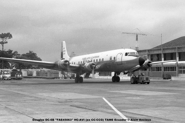 img680 Douglas DC-6B ''FAE45063'' HC-AVI (ex CC-CCG) TAME Ecuador © Alain Anciaux