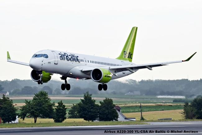 00 Airbus A220-300 YL-CSA Air Baltic © Michel Anciaux
