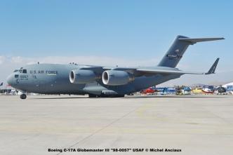 02 Boeing C-17A Globemaster III ''98-0057'' USAF © Michel Anciaux