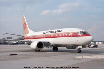 10 Boeing 737-3T0 N59302 Continental Air Lines © Michel Anciaux