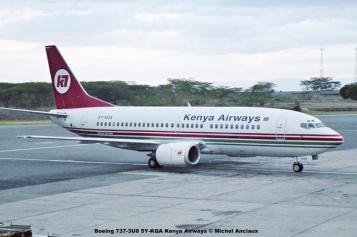 11 Boeing 737-3U8 5Y-KQA Kenya Airways © Michel Anciaux