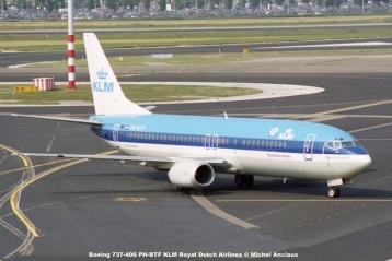 12 Boeing 737-406 PH-BTF KLM Royal Dutch Airlines © Michel Anciaux