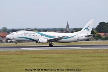13 Boeing 737-4Q8 TC-TLE Tailwind Airlines © Michel Anciaux