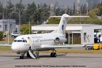 17 Fokker F-28-1000C Fellowship ''TC-54'' Fuerza Aerea Argentina © Michel Anciaux