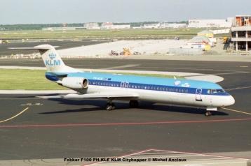 20 Fokker F100 PH-KLE KLM Cityhopper © Michel Anciaux