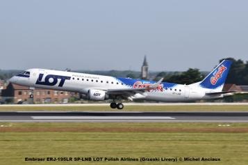 29 Embraer ERJ-195LR SP-LNB LOT Polish Airlines (Grzeski Livery) © Michel Anciaux