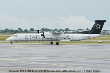 38 Bombardier DHC-8-402Q Dash 8 OE-LGR Austrian Airlines (Star Alliance Livery) © Michel Anciaux
