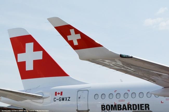 44 Bombardier CS100 C-GWXZ Swiss Intern. © Michel Anciaux