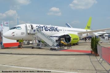 46 Bombardier CS300 YL-CSE Air Baltic © Michel Anciaux