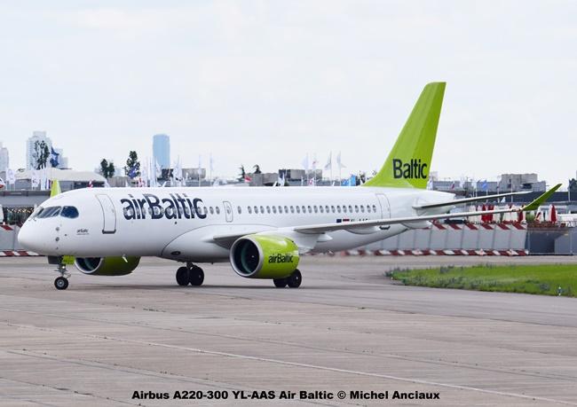 58 Airbus A220-300 YL-AAS Air Baltic © Michel Anciaux