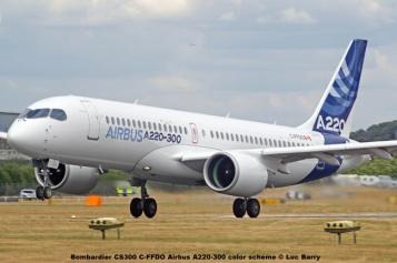 DSC07608 Bombardier CS300 C-FFDO Airbus A220-300 color scheme © Luc Barry