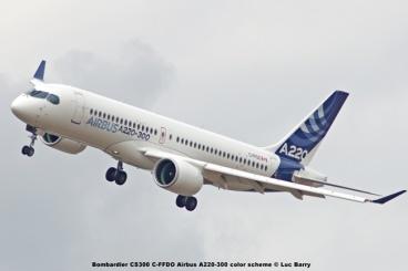 DSC07615 Bombardier CS300 C-FFDO Airbus A220-300 color scheme © Luc Barry