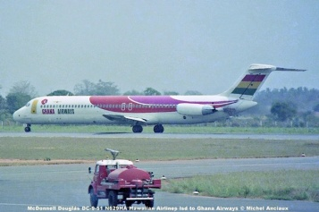img543 McDonnell Douglas DC-9-51 N629HA Hawaiian Airlines lsd. to Ghana Airways © Michel Anciaux
