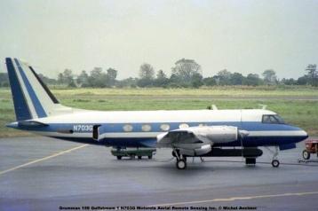 img550 Grumman 159 Gulfstream 1 N703G Motorola Aerial Remote Sensing Inc. © Michel Anciaux