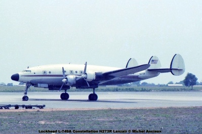 img556 Lockheed L-749A Constellation N273R Lanzair © Michel Anciaux