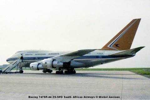 460 Boeing 747SP-44 ZS-SPD South African Airways © Michel Anciaux
