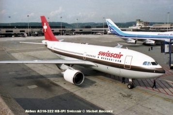 img130 Airbus A310-322 HB-IPI Swissair © Michel Anciaux