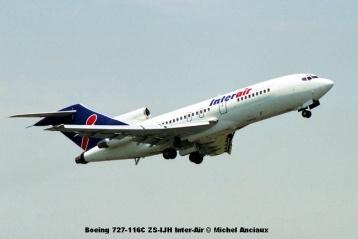 img2022 Boeing 727-116C ZS-IJH Inter-Air © Michel Anciaux