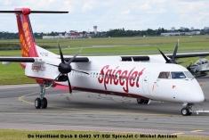 DSC_0241 De Havilland Dash 8 Q402 VT-SQI SpiceJet © Michel Anciaux