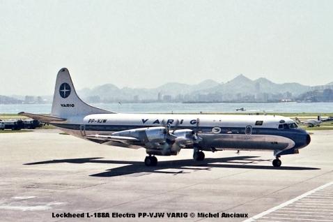 010 Lockheed L-188A Electra PP-VJW VARIG © Michel Anciaux