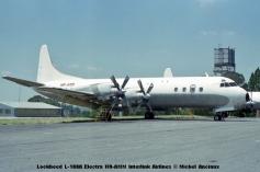 012 Lockheed L-188A Electra HR-AMM Interlink Airlines © Michel Anciaux
