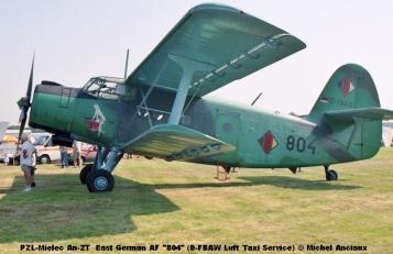 img088 PZL-Mielec An-2T East German AF ''804'' (D-FBAW Luft Taxi Service) © Michel Anciaux