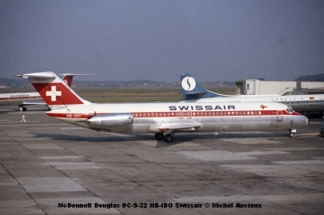 165 McDonnell Douglas DC-9-32 HB-IDO Swissair © Michel Anciaux