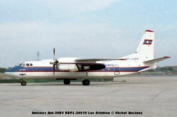 img353 Antonov Ant-24RV RDPL-34010 Lao Aviation © Michel Anciaux