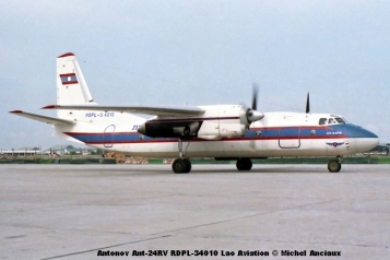 img431 Antonov Ant-24RV RDPL-34010 Lao Aviation © Michel Anciaux